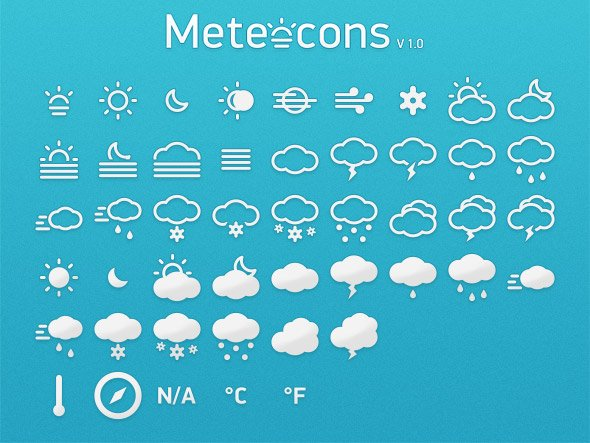Meteocons