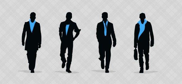 Fashion Men Silhouettes Set 1