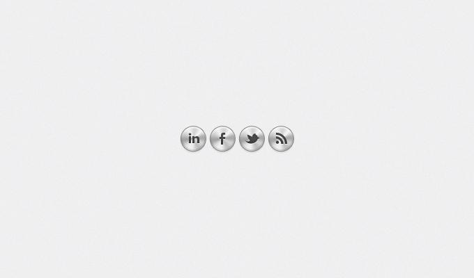 Metal Social Media Buttons