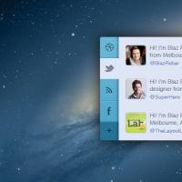 Mini Social App PSD