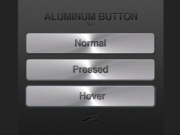 Aluminum Button PSD