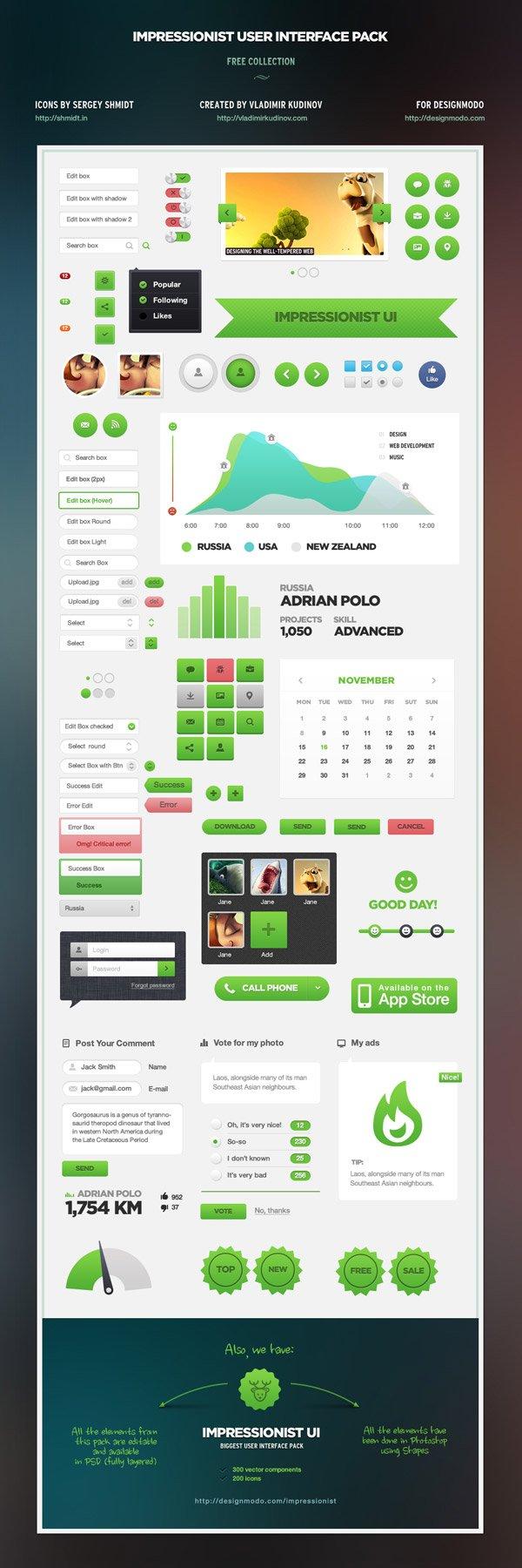 Impressionist UI Free User Interface Pack