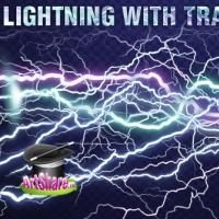 Lightning with transparent background