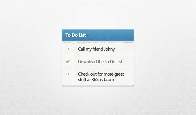 To Do List PSD