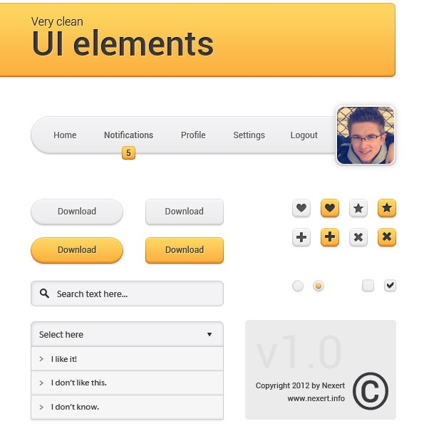 Very Clean UI Elements
