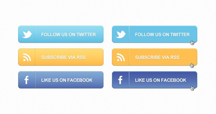 Social Callout Buttons