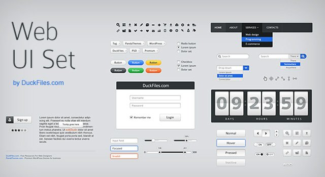 70+ user interface PSD UI K