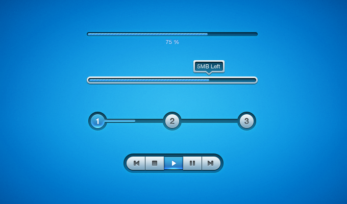 Blue UI Elements