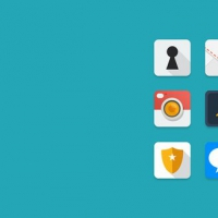 12 Flat Rounded iOS Icons Set