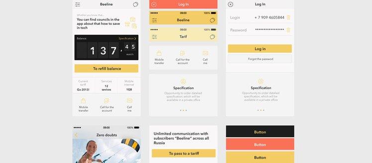 Beeline App iOS7 UI Kit