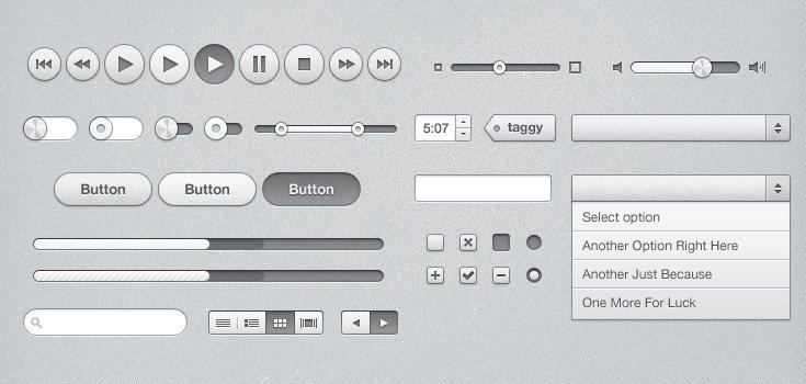 iTunes Inspired UI Kit (PSD)