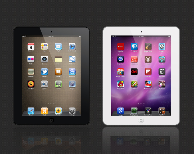 iPad 2 PSD Template