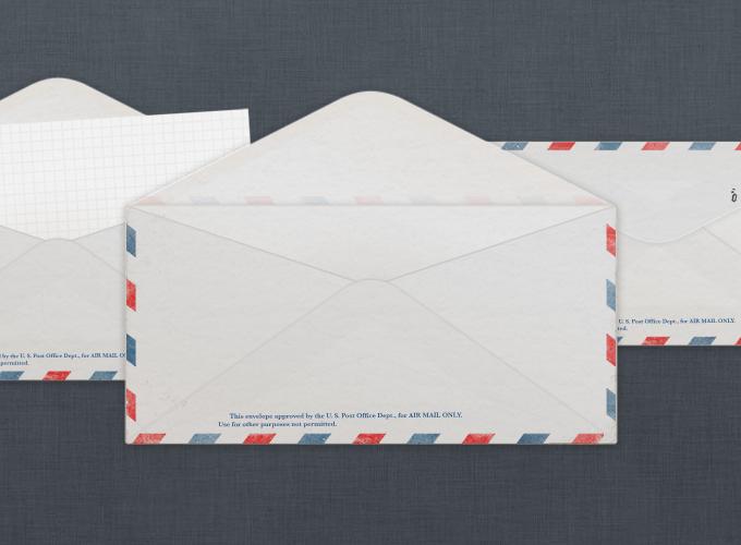 Vintage U.S. Air Mail envelope