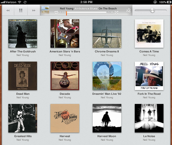 iOS 5 iPad Music App