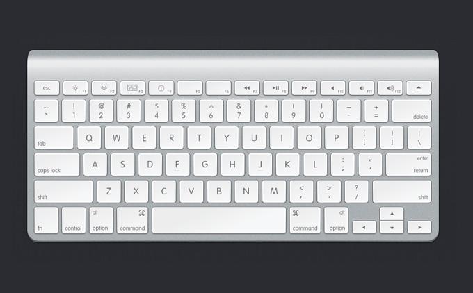 Apple Keyboard PSD