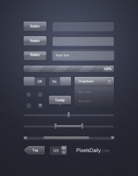 Transparent Glass UI: Free PSD for User Interface Design