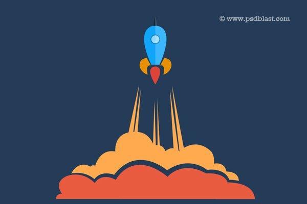 Launching Soon Icon PSD
