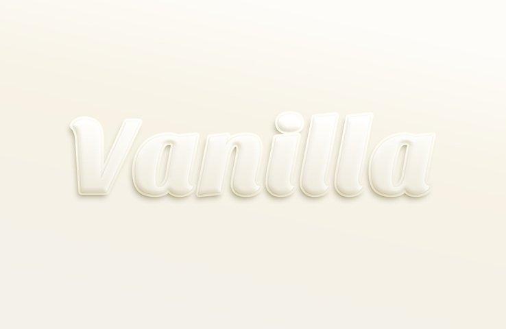 Vanilla Text Effect