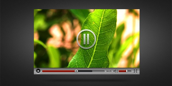 Video Player Interface PSD