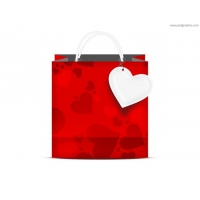 Valentine's Day Shopping Bag (PSD)