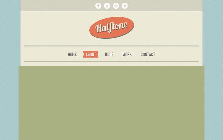 Halftone Free PSD Template