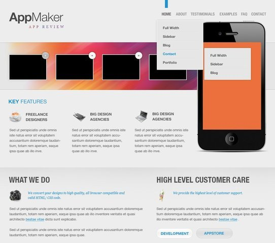 AppMaker Free PSD Template