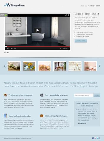 MeegoFurn Free Landing Page PSD Template