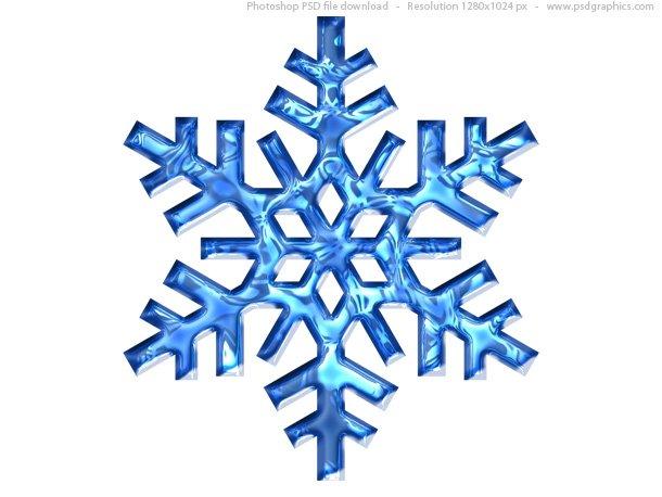 Blue Snowflake Icon (PSD)