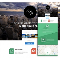 Flat Style Single Page Web Template Designs