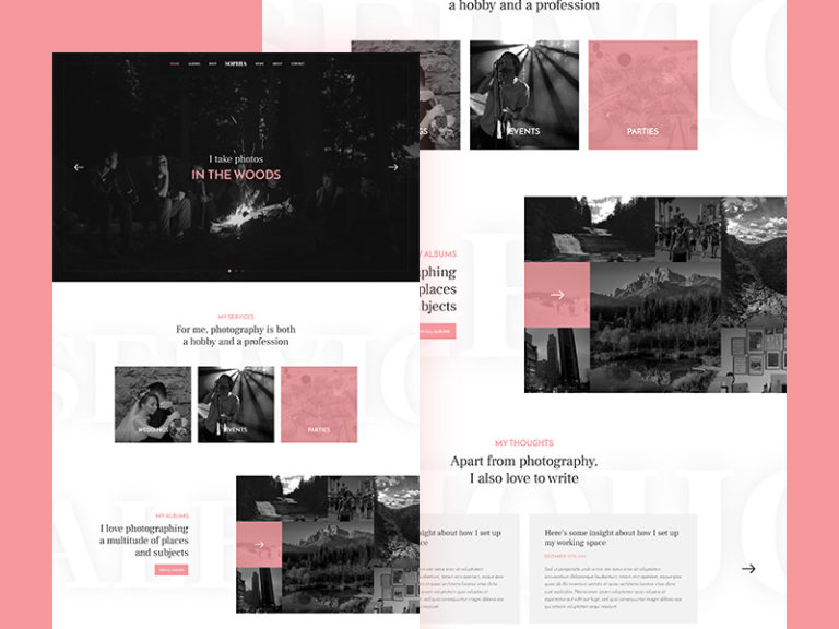 Photographer Website Template Free