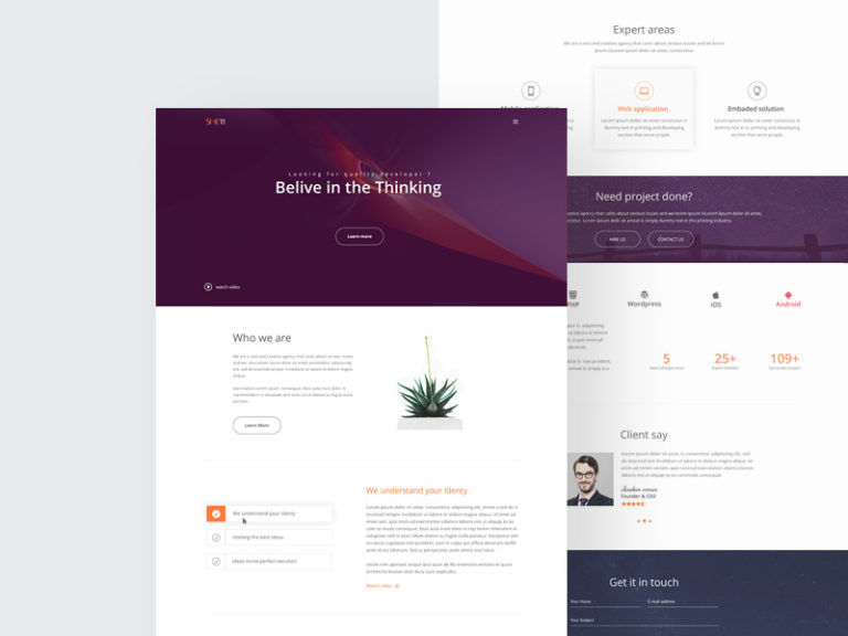 Agency Website Landing Page Template