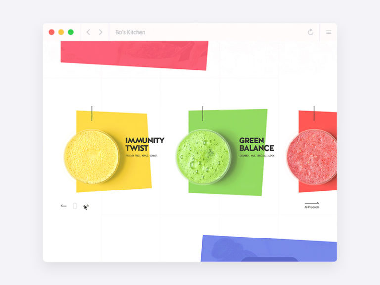 Colorful Restaurant and Food Website Template Free