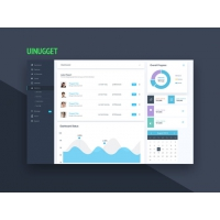 Website Dashboard UI Design Template Free