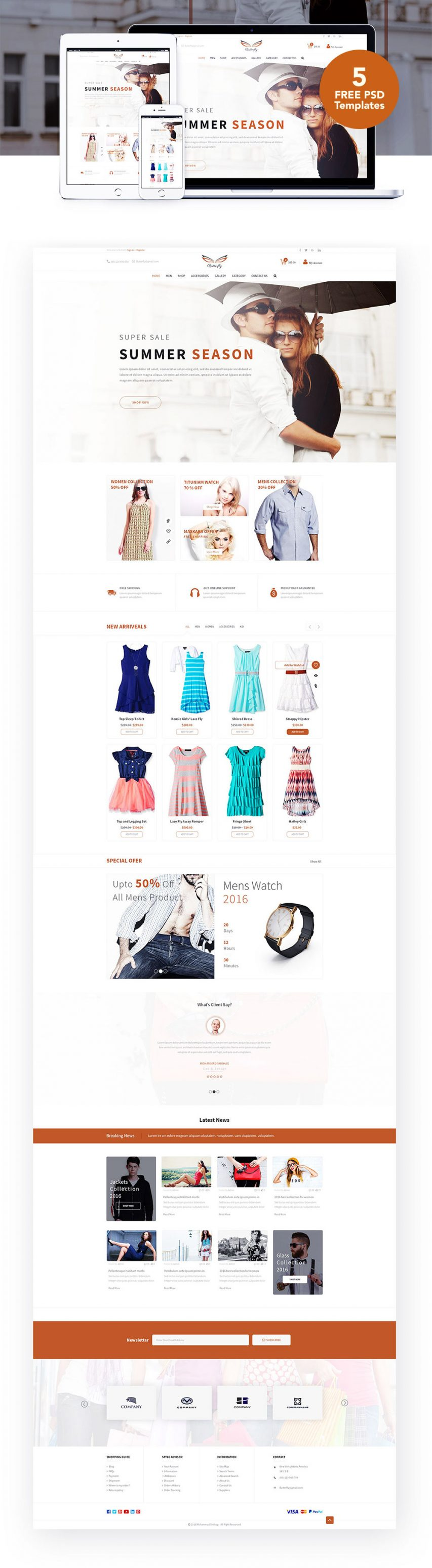 Fashion eCommerce Website Templates Free
