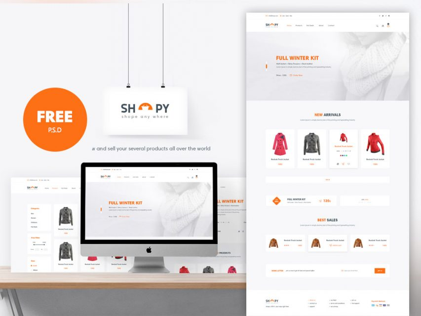 eCommerce Shopping Website Template Free