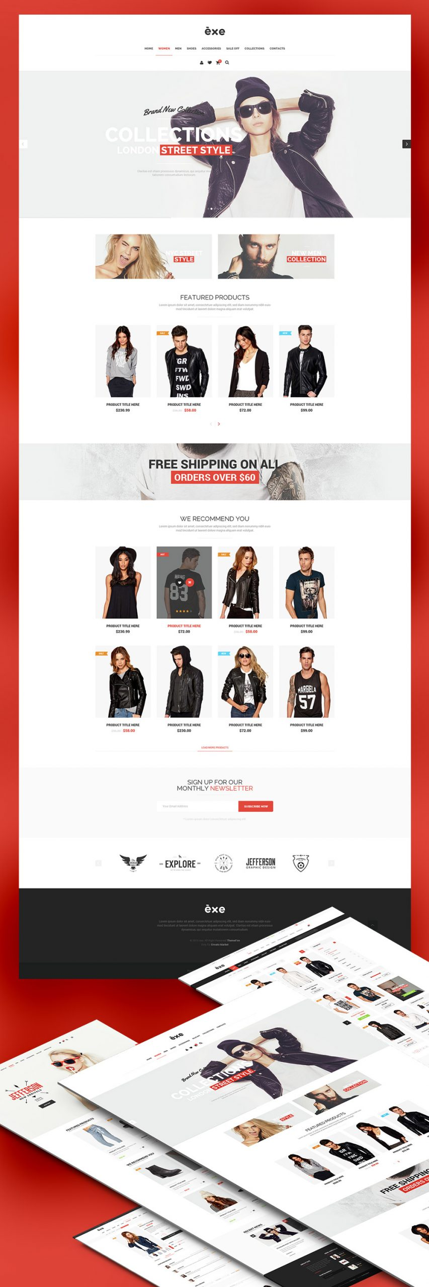 Multipurpose eCommerce WordPress Theme Free PSD Templates