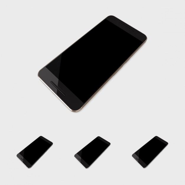 Black Mobile Phone Mock Up