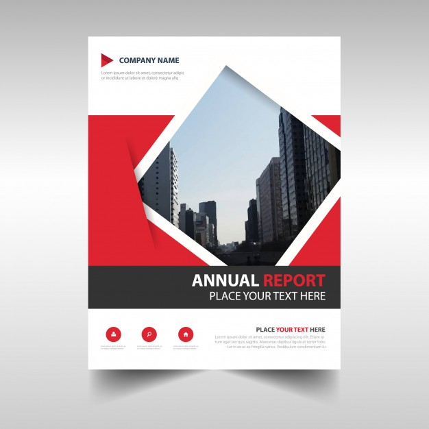 Red Geometric Abstract Annual Report