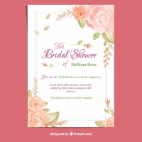 Bachelorette Card With Watercolor Roses