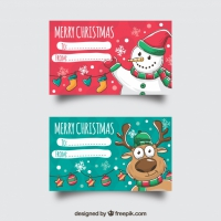 Two Merry Christmas Cards