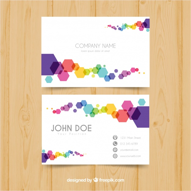 Colorful Bbusiness Card
