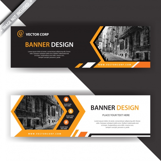 Black And Orange Banner