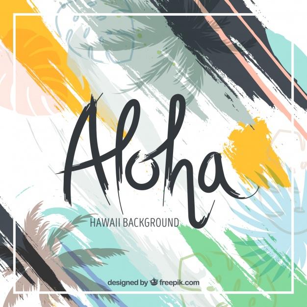 Abstract Background Of Aloha