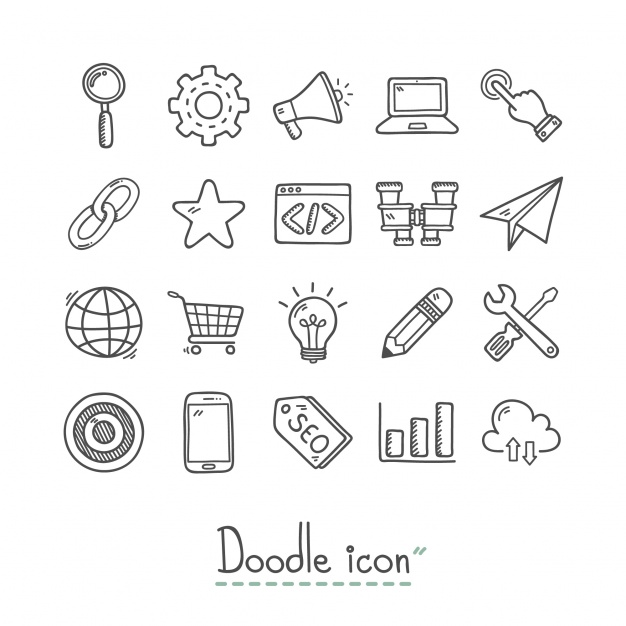 Hand Drawn Business Icons Collection
