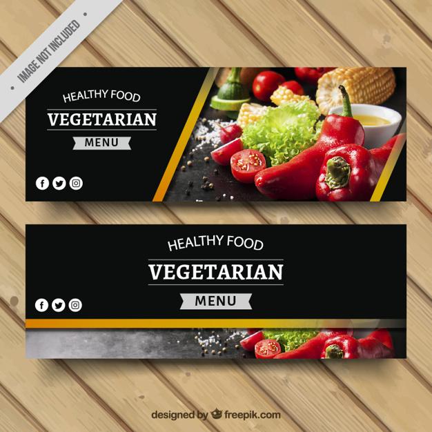 Vegetarian Food Banners