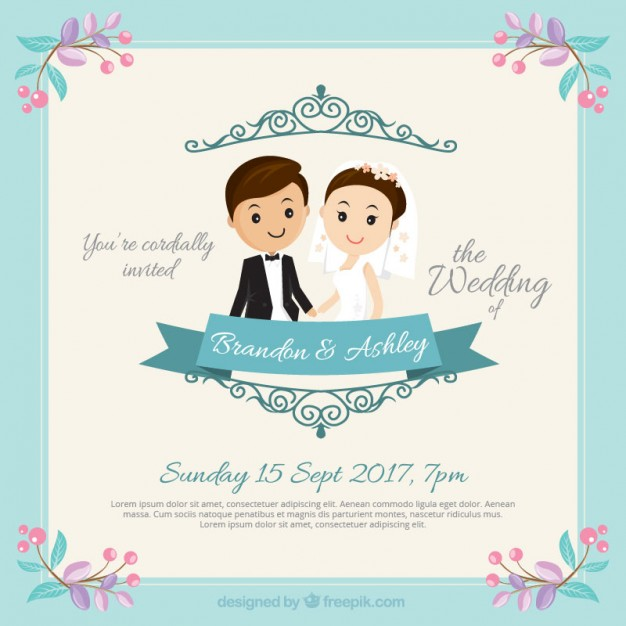 Nice Couple Wedding Invitation