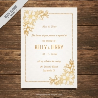Wedding Invitation Decorated