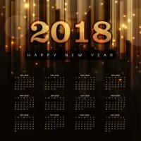Happy New Year 2018 Elegant Royal