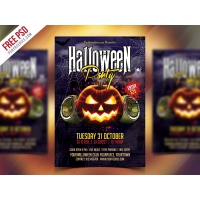 Free Halloween Party Flyer PSD