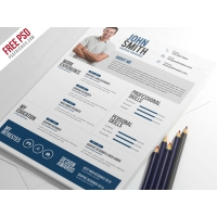 Creative Resume CV PSD Template